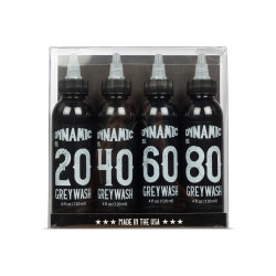 Dynamic Greywash Tattoo Ink - 4 oz. Bottle Set