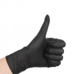 Tattoo Nitrile Mix PVC Black Gloves #CS036